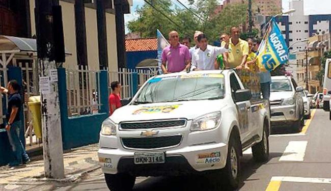 Prefeito ACM Neto e o ex-governador Paulo Souto participaram de carreata em Brotas nesta manhã - Foto: Divulgação
