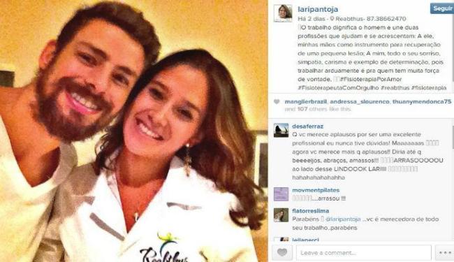 Fisioterapeuta publicou mensagem para o ator no seu Instagram - Foto: Reprodução   Instagram