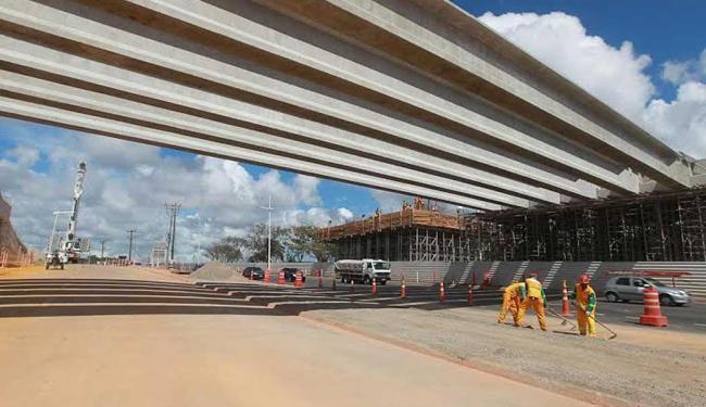 Obras no viaduto alteram tráfego de veículos nesta terça,quarta e quinta-feira das 23h às 5 da manhã - Foto: Divulgação | Camila Souza/GOVBA