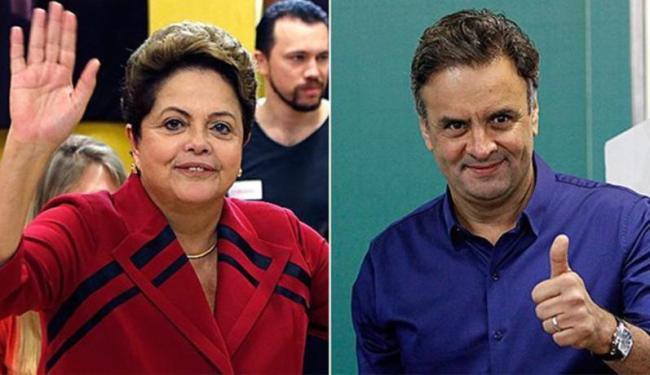 Dilma teve 41,6 por cento dos votos válidos e Aécio somou 33,6 por cento - Foto: Paulo Whitaker e Washington Alves | Agência Reuters