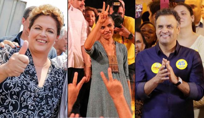 Na pesquisa, Dilma segue à frente e Marina e Aécio estão em empate técnico - Foto: Montagem | Ag. A TARDE
