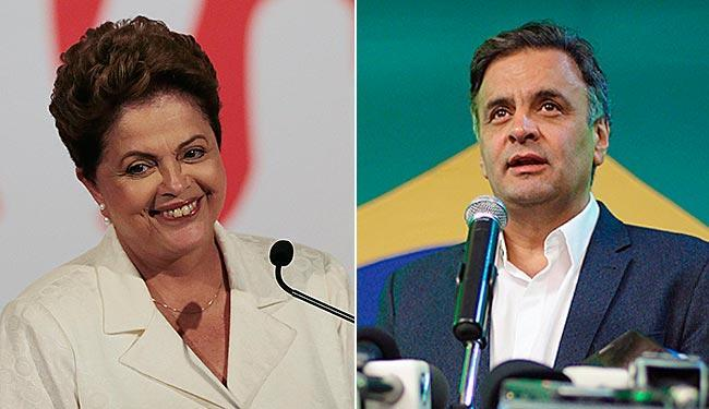 Dilma e Aécio disputarão a presidência no próximo dia 26 de outubro - Foto: Ueslei Marcelin   Agência Reuters / Jackson Romanelli   Agência Reuters