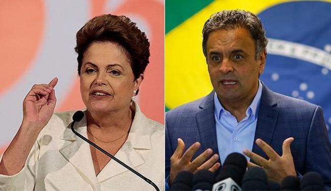 Segundo o Ibope, Aécio tem 46% das intenções de voto, contra 44% de Dilma - Foto: Ueslei Marcelino e Ricardo Moraes l Reuters