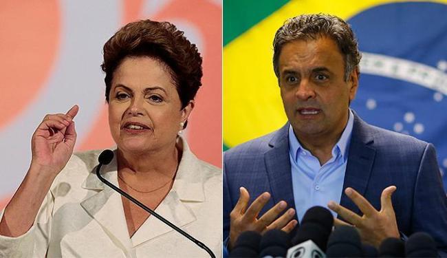 Segundo o Datafolha, Aécio tem 46% das intenções de voto, contra 44% de Dilma - Foto: Ueslei Marcelino e Ricardo Moraes l Reuters