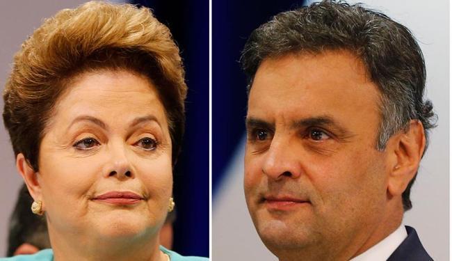 Dilma Rousseff e Aécio Neves continuam tecnicamente empatados em nova pesquisa - Foto: Agência Reuters