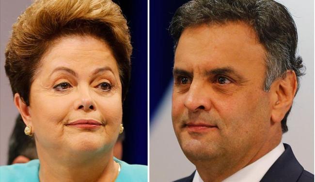 No levantamento anterior do instituto, divulgado no dia 22, Dilma tinha 52%, e Aécio, 48% - Foto: Agência Reuters