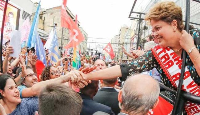 Dilma assume a liderança fora da margem de erro da pesquisa - Foto: Ichiro Guerra | Ag. A TARDE