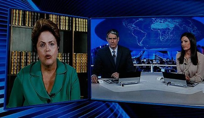 Presidente Dilma Rousseff (PT) durante entrevista ao 'Jornal Nacional' - Foto: Reprodução l Jornal Nacional