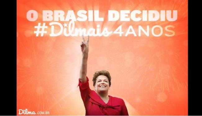 Dilma postou no Twitter um agradecimento pela reeleição - Foto: Reprodução   Twitter