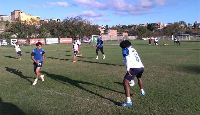 Jogadores desceram para o campo e trabalharam com bola - Foto: Divulgação l E.C. Bahia