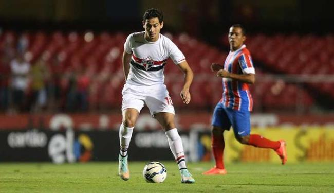 Ganso foi o autor do segundo gol do São Paulo contra o Bahia - Foto: Alex Silva   Estadão Conteúdo