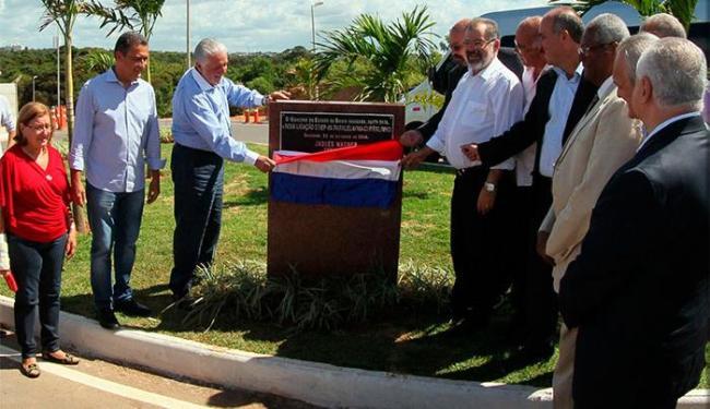 Governador Jaques Wagner e autoridades estiveram presentes no local - Foto: Manu Dias   GOVBA