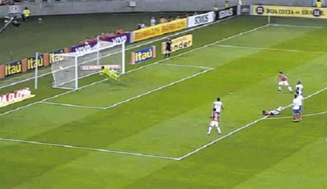 Alan Patrick arrisca de fora da área e faz o primeiro gol com chute no ângulo - Foto: Reprodução
