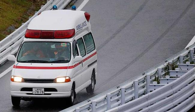 Ambulância que prestou socorro ao piloto Jules Bianchi - Foto: Agência Reuters