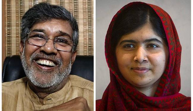 A dupla teve destaque por seus esforços contra o extremismo e pela educação - Foto: Adnan Abidi   Carlo Allegri   Ag. Reuters
