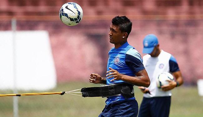 Kieza retorna aos treinos e reforça o tricolor diante do Verdão - Foto: Eduardo Martins | Ag. A TARDE