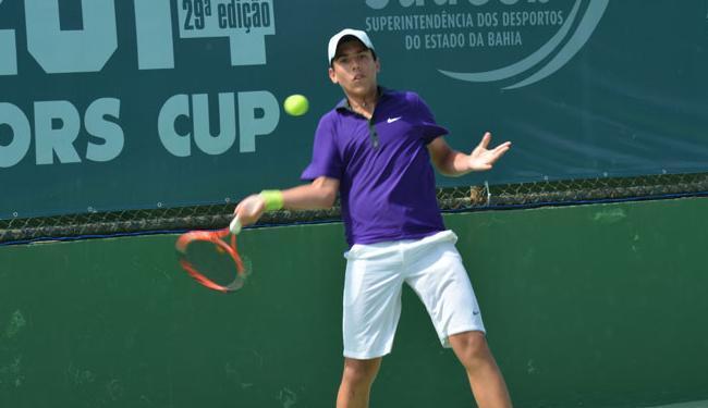 O tenista baiano Leonardo de Menezes estreou com vitória na competição - Foto: Divulgação