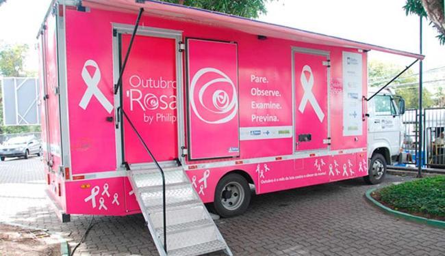 Três unidades móveis circulam pela capital realizando mamografias gratuitas - Foto: Reprodução | Site Uneb