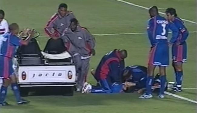 Serginho morreu durante a partida entre São Paulo e São Caetano no Morumbi - Foto: Reprodução   Vídeo