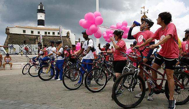 Passeio ciclístico reunir pacientes, colaboradores e o púbico em geral - Foto: Fernando Amorim | Ag. A TARDE