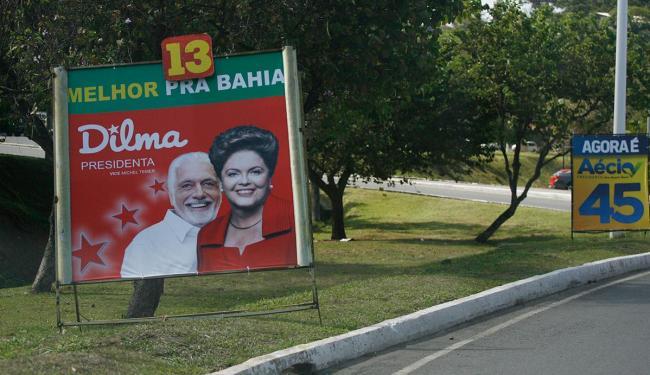 Placas dos presidenciáveis começam a ser instaladas em Salvador - Foto: Fernando Amorim   Ag. A TARDE