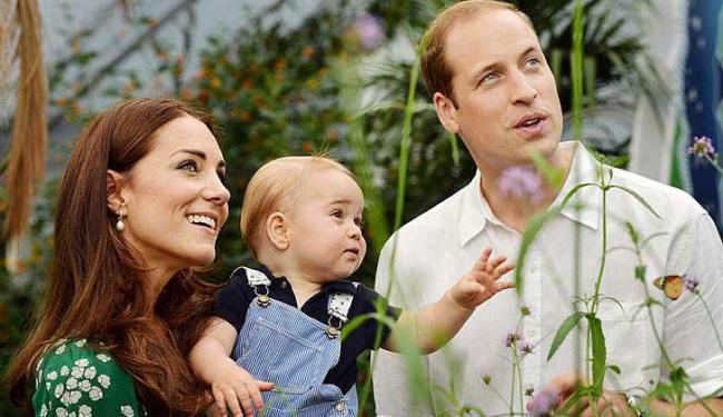 Kate Middleton e o príncipe William já são pais de George - Foto: John Stillwell   Agência Reuters