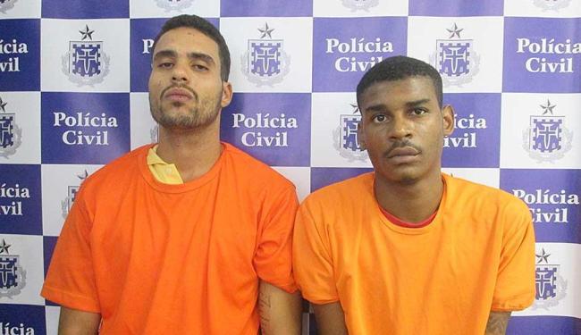 Anderson e Israel participaram do latrocínio de policial militar em setembro deste ano - Foto: Divulgação | ASCOM Polícia Civil