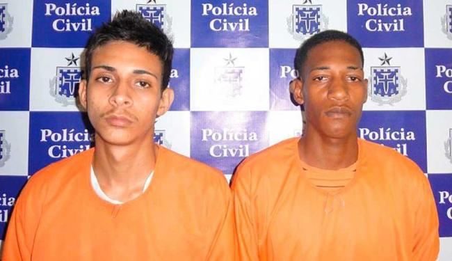 William (esq.), que já tinha passagem pela polícia por roubo, e Sidinei (dir.) - Foto: Divulgação | ASCOM Polícia Civil