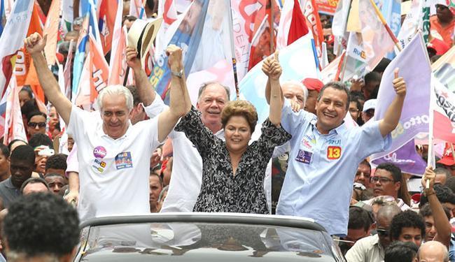Dilma esteva na Bahia durante o primeiro turno - Foto: Vaner Casaes   Ag. BAPRESS   Divulgação   25.09.2014
