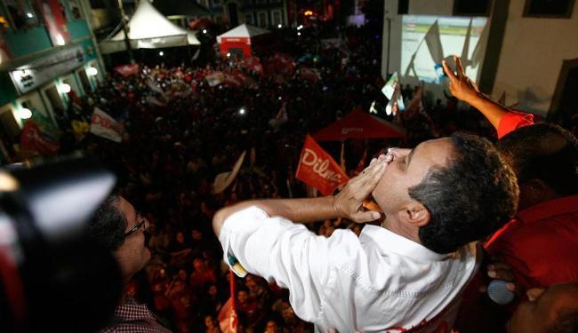Em toda Bahia, petista venceu com 54% dos votos contra 37% de Souto - Foto: Raul Spinassé   Ag. A TARDE