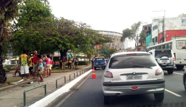 Trânsito está lento na região, sentido avenida Bonocô - Foto: Thaís Seixas   Ag. A TARDE