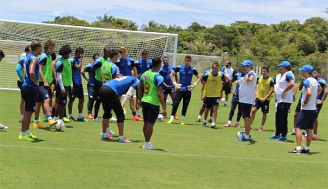 À tarde, o elenco tricolor realizou o segundo treino no CT de Praia do Forte - Foto: Divulgação l E.C. Bahia
