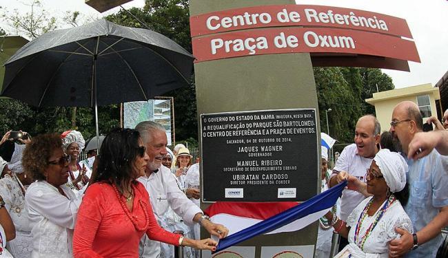 Wagner entregou o novo Parque de São Bartolomeu com banho de pipoca - Foto: Manu Dias | Divulgação Secom Bahia