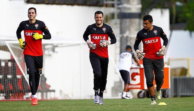 Wilson (C) deve começar como titular no gol, contra o Criciúma - Foto: Eduardo Martins   Ag. A TARDE