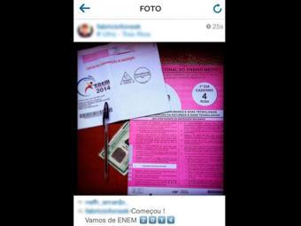 Candidato postou foto da prova no Instagram - Foto: Reprodução | Instagram