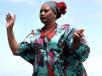 Inaicyra apresenta show com repertório que se aproxima das tradições africana e indígena - Foto: Sidney Rocharte | Divulgação