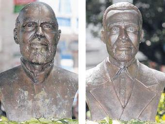 Luiz Gonzaga e João de Deus: dois líderes da Revolta dos Búzios - Foto: Fotos Erik Salles   Ag. A TARDE   12.11.11