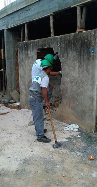 Responsável pela obra já via sido notificado e multado - Foto: Ascom | Sucom