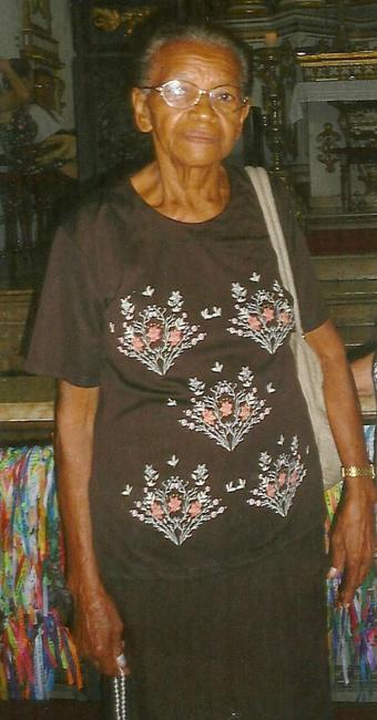 Maria José estava em grupo que visitava a Igreja do Bonfim - Foto: Deltur | Divulgação