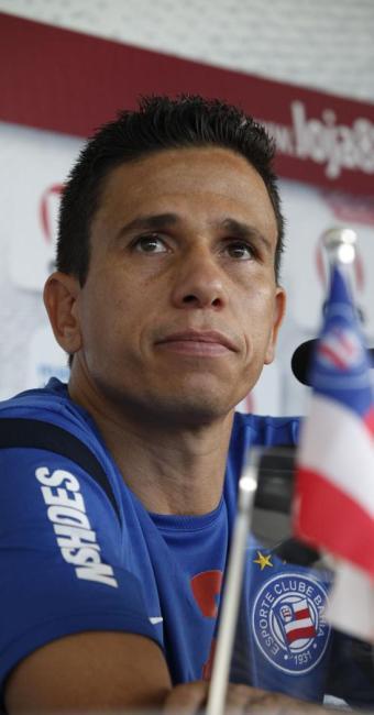 Potita foi liberado do jogo para acompanhar esposa, vítima de bala perdida - Foto: Marco Aurélio Martins | Ag. A Tarde