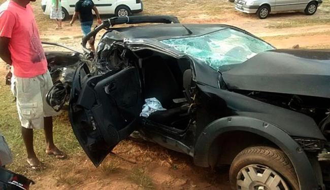 Veículo colidiu com outros dois carros - Foto: Alan da Silva   Mais Região