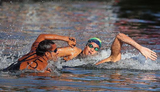Atuais melhores maratonistas do mundo, Allan do Carmo e Ana Marcela nadam por mais um título - Foto: Sátiro Sodré l SSPress