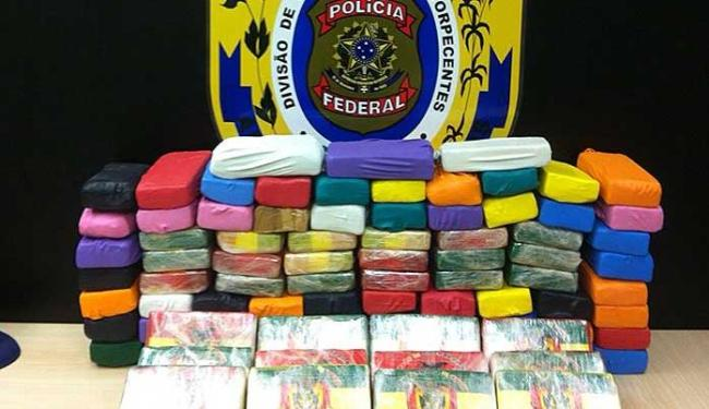 Polícia Federal apreendeu 91kg de cocaína com motorista na Av. Vasco da Gama - Foto: Divulgação | Polícia Federal