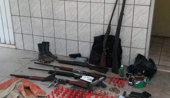 Armamento foi encontrado em fazenda de Juazeiro /Ascom Polícia Federal
