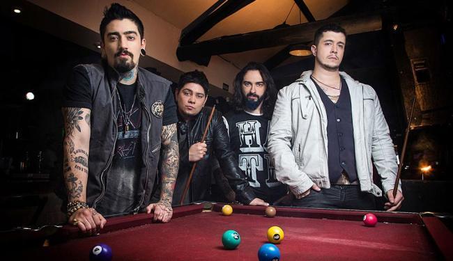 A banda Malta, vencedora do reality SuperStar, com o vocalista e compositor Bruno Boncini à direita - Foto: Divulgação