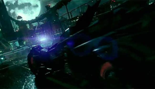 Batmóvel aparece no vídeo de gameplay do jogo - Foto: Reprodução   Youtube