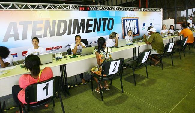 Feirão de 2013: 70 mil baianos limparam o nome nas três primeiras edições do evento - Foto: Margarida Neide   Arquivo   Ag. A TARDE
