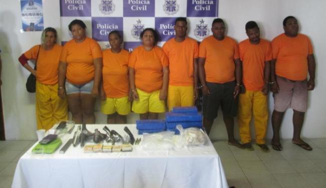 Grupo fazia tráfico de drogas no Calafate, em Fazenda Grande do Retiro - Foto: Ascom   Polícia Civil