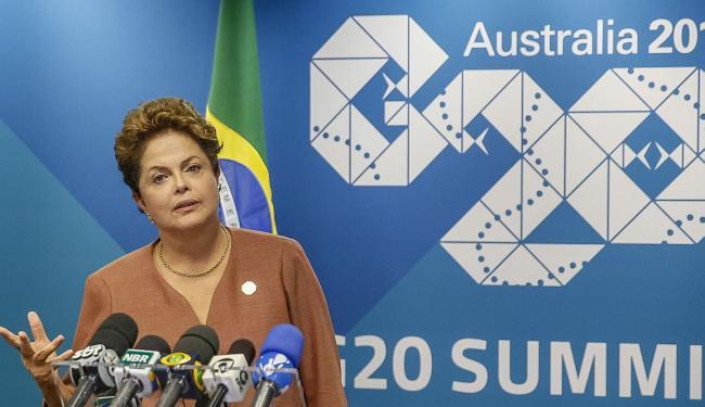 Dilma falou à imprensa antes de deixar a reunião do G-20, na Austrália - Foto: Agência Reuters
