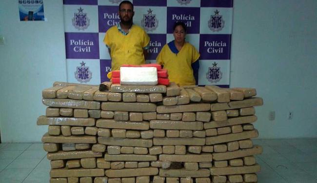 Casal trazia a droga de Irecê - Foto: Ascom   Polícia Civil